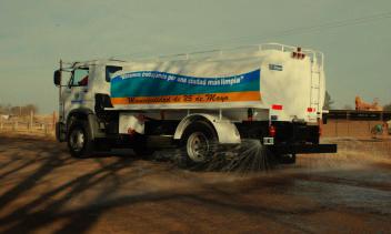 Tanque transporte agua